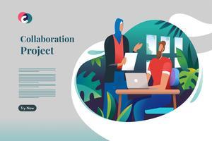 Samarbetsprojekt vektor