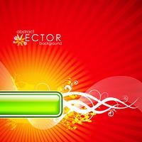 Vektorfrühlingsillustration mit Blume auf Kreismusterhintergrund vektor