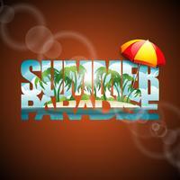 Sommer-Paradies-Schriftzug