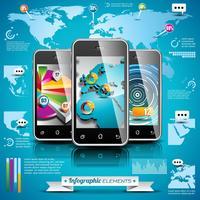 Vektordesignsatz von infographic Elementen