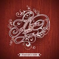Vektor illustration på en Alla hjärtans dag tema med Jag älskar dig typografisk design