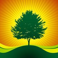 vektor träd på glans bakgrund