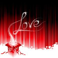 Valentinstagthema mit nähendem Herzen