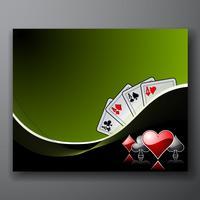 Glücksspiel-Hintergrund mit Casino-Elementen