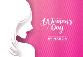 Kvinnors dag hälsningskort