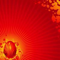 Vektor-Ostern-Abbildung mit gemaltem Ei