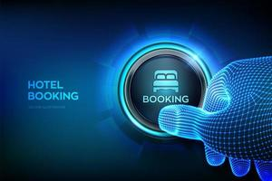 Hotelbuchung. Onlinereservierung. mobile Anwendung zum Mieten vektor