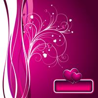 valentins dag illustration med härlig härd på rosa bakgrund