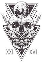 Schädel-heiliger Geometrie-Entwurf