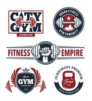 Fitness-Embleme eingestellt vektor