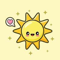 süße Sonne Vektorbild vektor