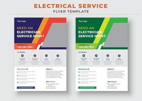 Elektriker-Service-Flyer-Vorlage, benötigen ein Elektriker-Poster. vektor