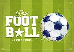 Grunge fotbollaffisch