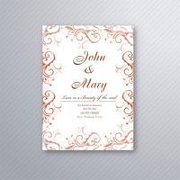 Schöne Hochzeitseinladungskarte mit buntem Blumenmuster