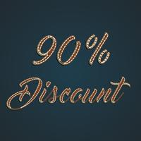 Realistisk läder procent set, vektor illustration