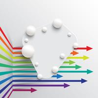 Bunte und saubere Schablone mit Pfeilen, Vektorillustration vektor