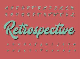 Retro teckenuppsättning, vektor illustration