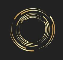 abstrakte goldene Linien in Kreisform, Designelement-Logo-Luxus vektor