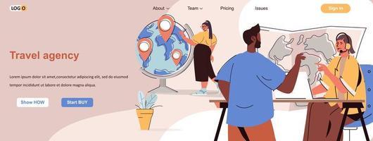Webbanner für Reisebüros für Werbematerialien für soziale Medien vektor