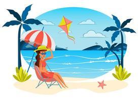 Sommerurlaub isolierte Szene vektor