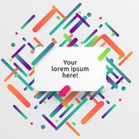 Dynamisk och färgstark mall för reklam, vektor illustration