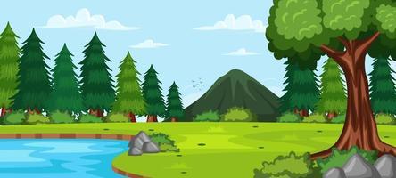 Waldlandschaft Hintergrund vektor
