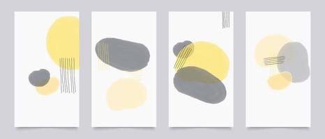 Cover-Design, Wandkunst, Leinwanddrucke, Hintergrund mit organischen Formen vektor
