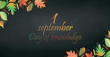 Akademische Ferien 1. September, Beginn des Schuljahres vektor