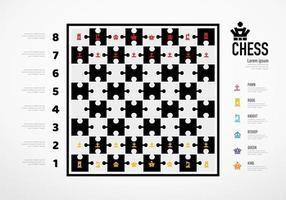 Schachbrett mit Schach-Infografik-Geschäftserfolgskonzept. vektor