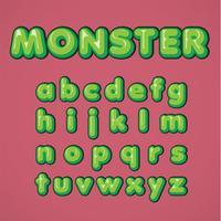 Grüner Comiczeichensatz von einem Schriftsatz, Vektorillustration vektor