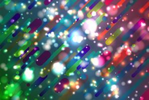 Färgrik abstrakt bakgrund med bollar och rader för reklam, vektor illustration