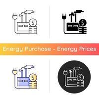 Energiepreis für Industriesymbol vektor