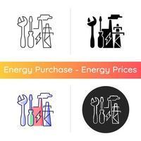 Symbol für Reparaturen des Energiesystems vektor