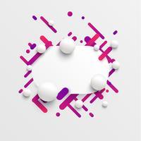 Dynamische und bunte Schablone für die Werbung, Vektorillustration