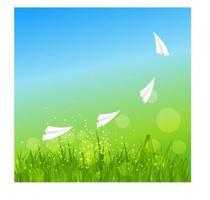 Sommer abstrakter Hintergrund mit Gras. Vektor-Illustration. vektor