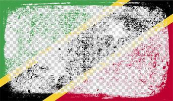 Grounge-stil flagga, vektor illustration