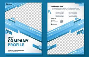 Firmenprofilvorlage vektor