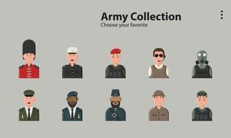 Marine Armee Soldat Militärkraft Macht Pistole Maske Krieg Illustration vektor