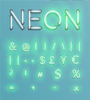 Realistischer Neonzeichensatz, Vektor