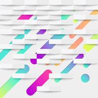 Bunter abstrakter Hintergrund mit Bällen und Linien für die Werbung, Vektorillustration