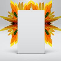 Vit abstrakt mall med gula pilar bakgrund, vektor
