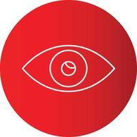 Steigungslinie Kreis-perfekter Ikonen-Vektor oder Pigtogram Illustration vektor