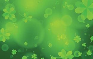 leuchtend grüner Kleehintergrund vektor