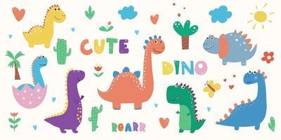 dinosaurier clipart dino clipart niedliche dinosaurier-grafiken vector
