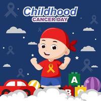 Krebstag im Kindesalter vektor