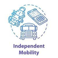 Symbol für unabhängiges Mobilitätskonzept vektor
