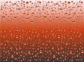 Realistisches Wasser fällt auf ein einfaches Glas, Vektorillustration