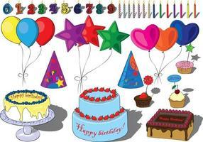 Geburtstagsfeier-Set-Vektor-Illustration vektor