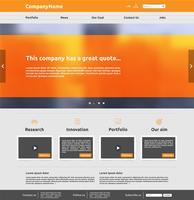 Modern webbplats mall för affärer, vektor illustration
