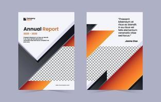 moderner flacher orange-schwarzer Jahresbericht vektor